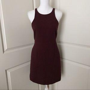 JCREW Burgundy Maroon Fitted Dress SZ 4